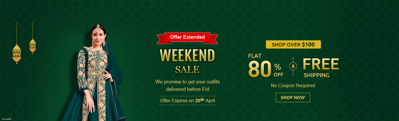 Flat 80% Off + Free Shipping