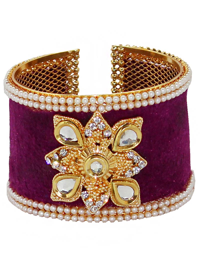 Purple Alloy Austrian Diamonds Bangle 65966
