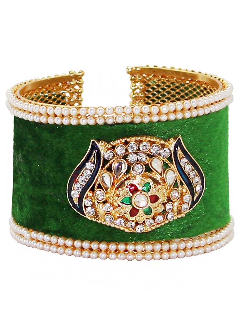 Green Alloy Austrian Diamonds Bangle 65971