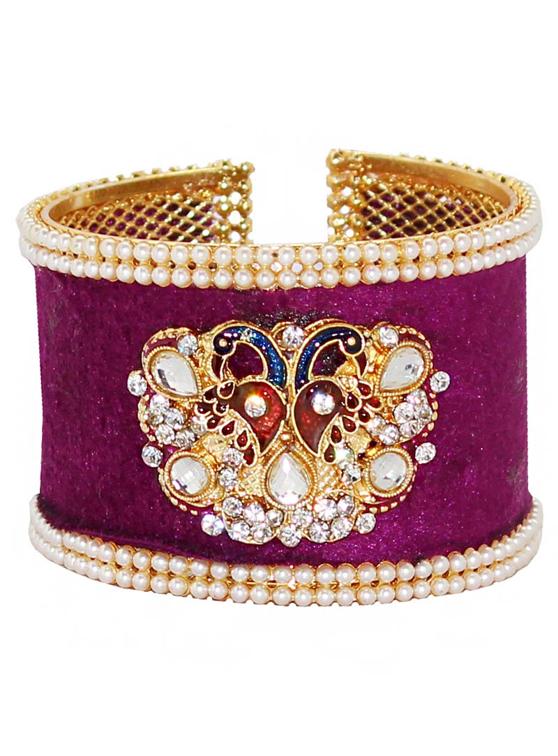 Purple Alloy Austrian Diamonds Bangle 65974