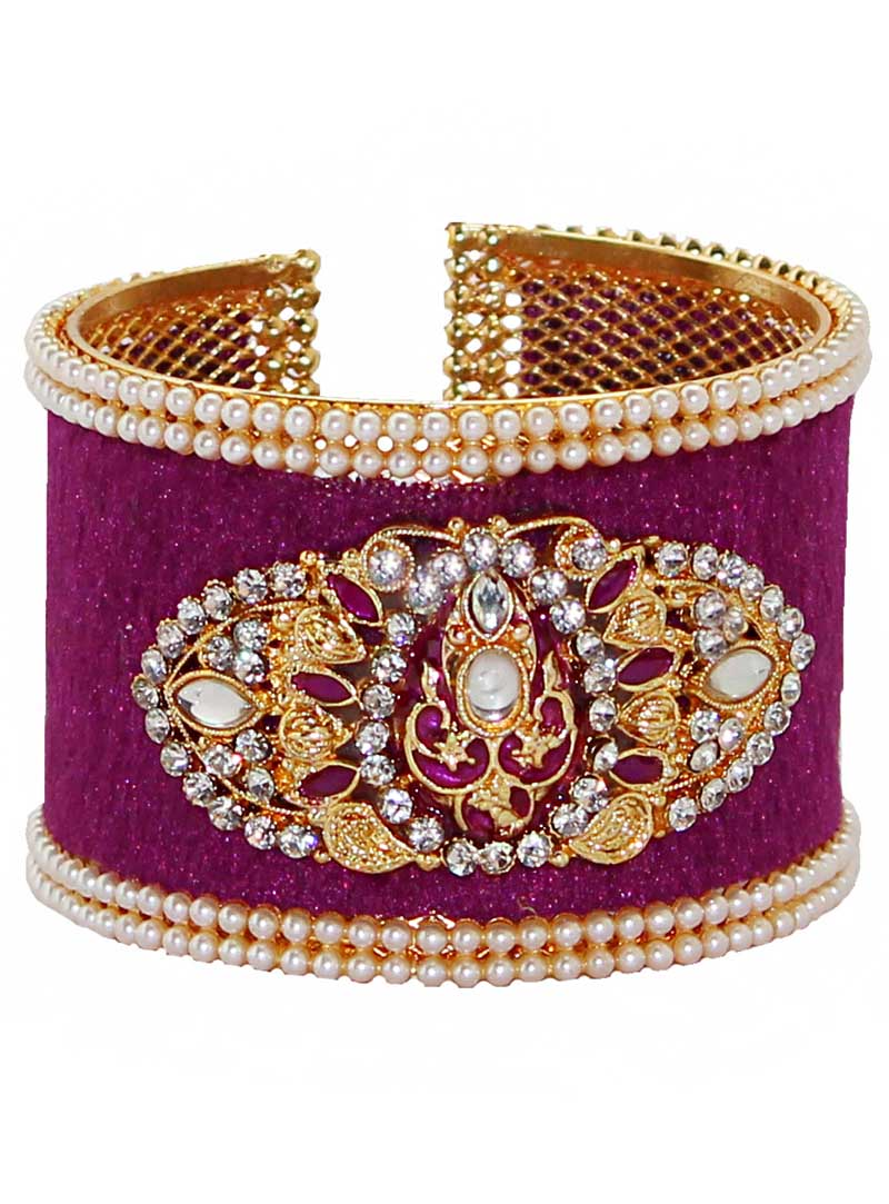 Purple Alloy Austrian Diamonds Bangle 65976
