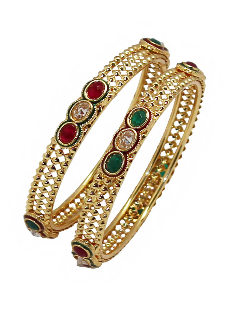 Maroon Alloy Zircon Diamonds Bangle 65999