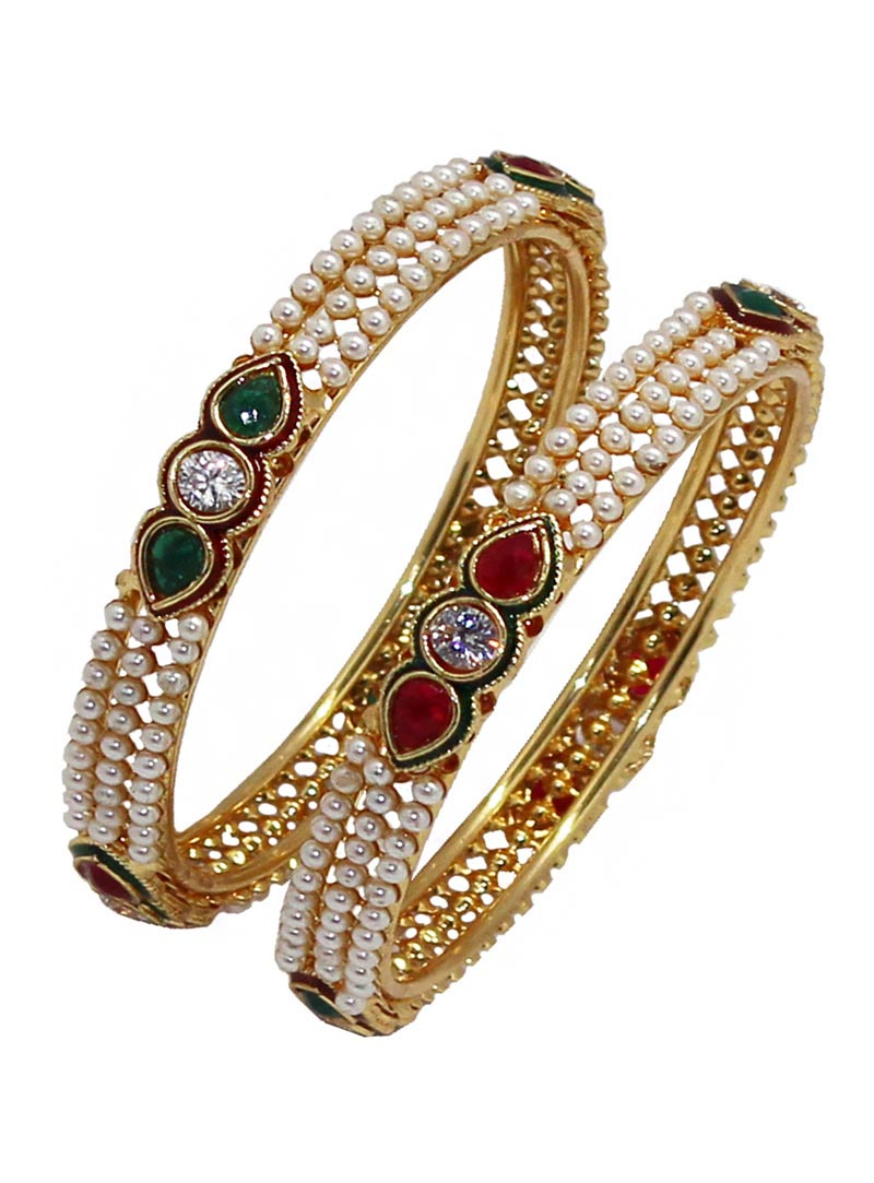 Maroon Alloy Austrian Diamonds Bangle 66000