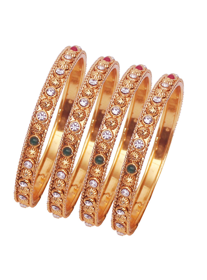 Golden Alloy Austrian Diamonds Bangle 89225