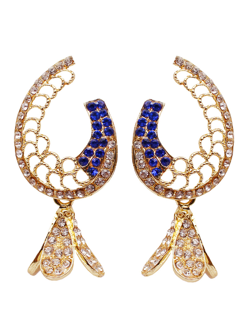 Blue Alloy Austrian Diamond Earrings 128444