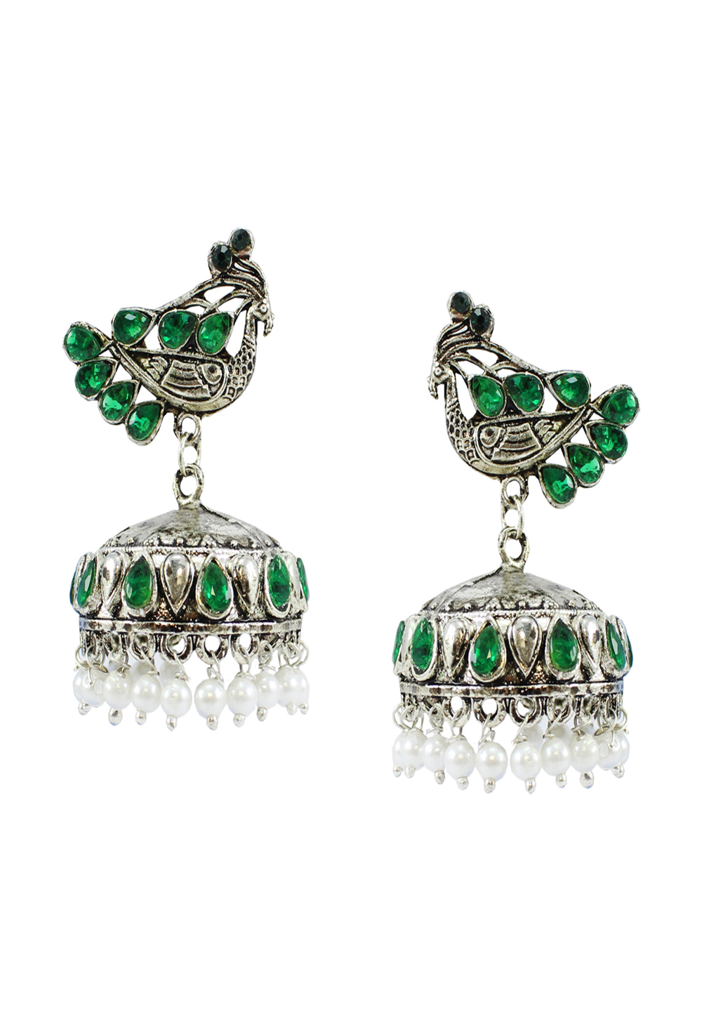 Green Alloy Earrings 177873