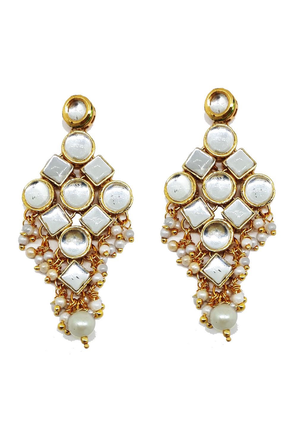 White Brass Earrings 184183