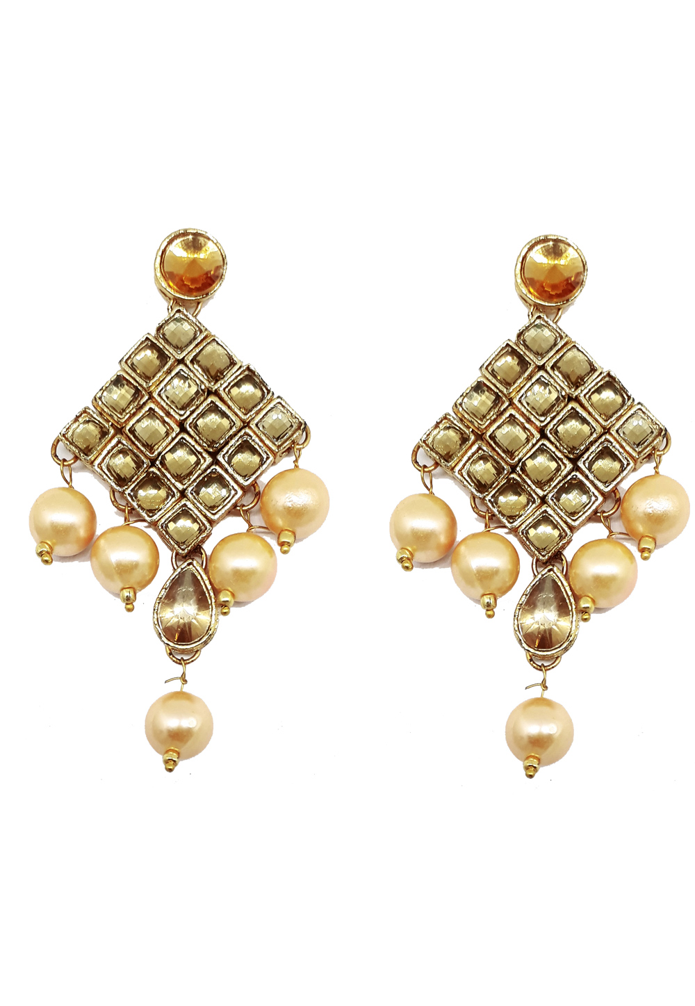 White Brass Earrings 184184