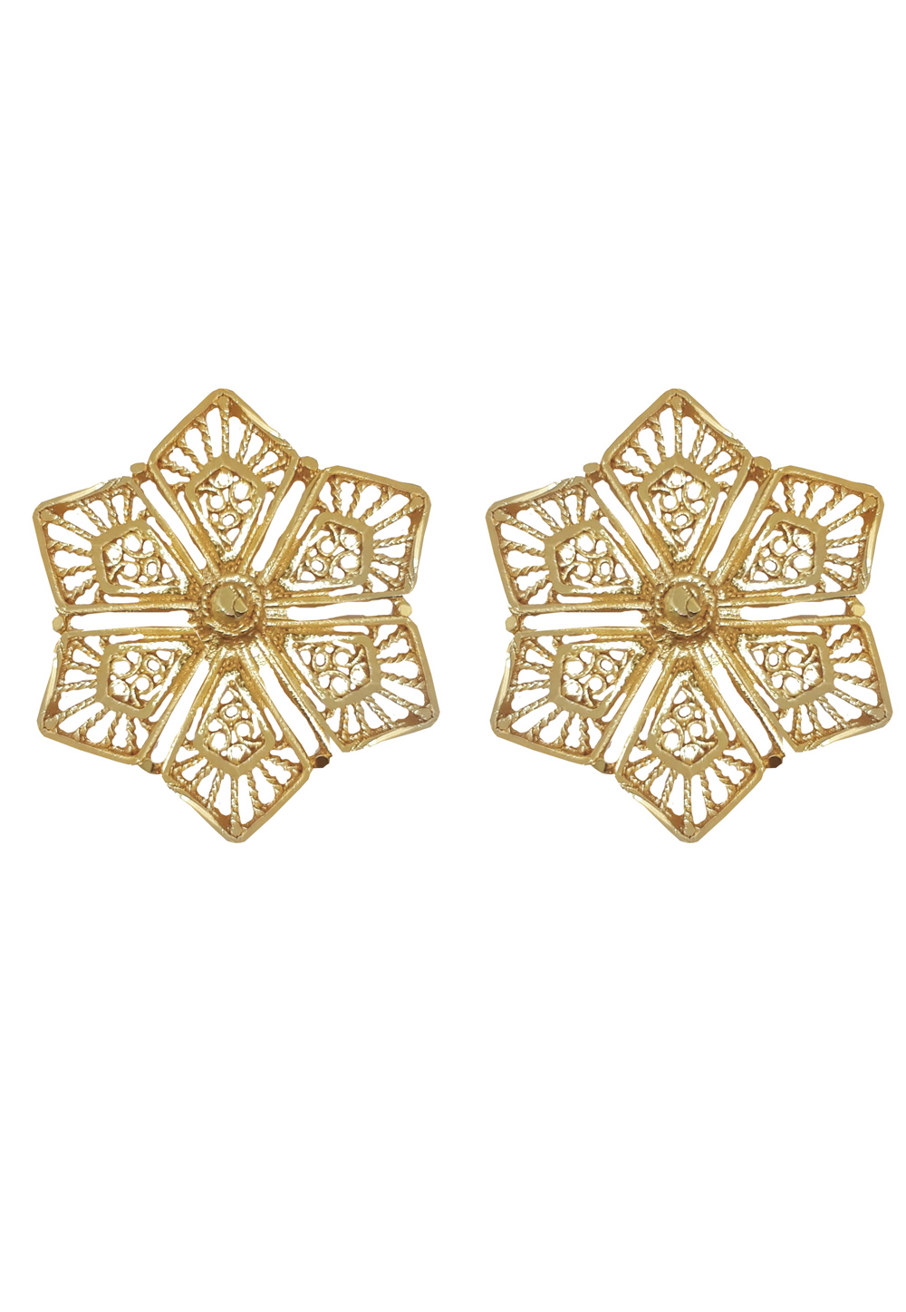 Golden Brass Earrings 184211