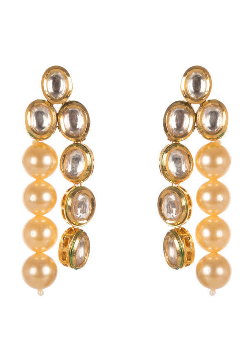 Golden Brass Earrings 184214