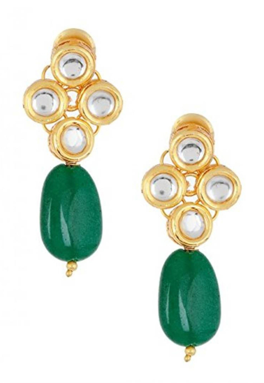 Green Brass Earrings 184219