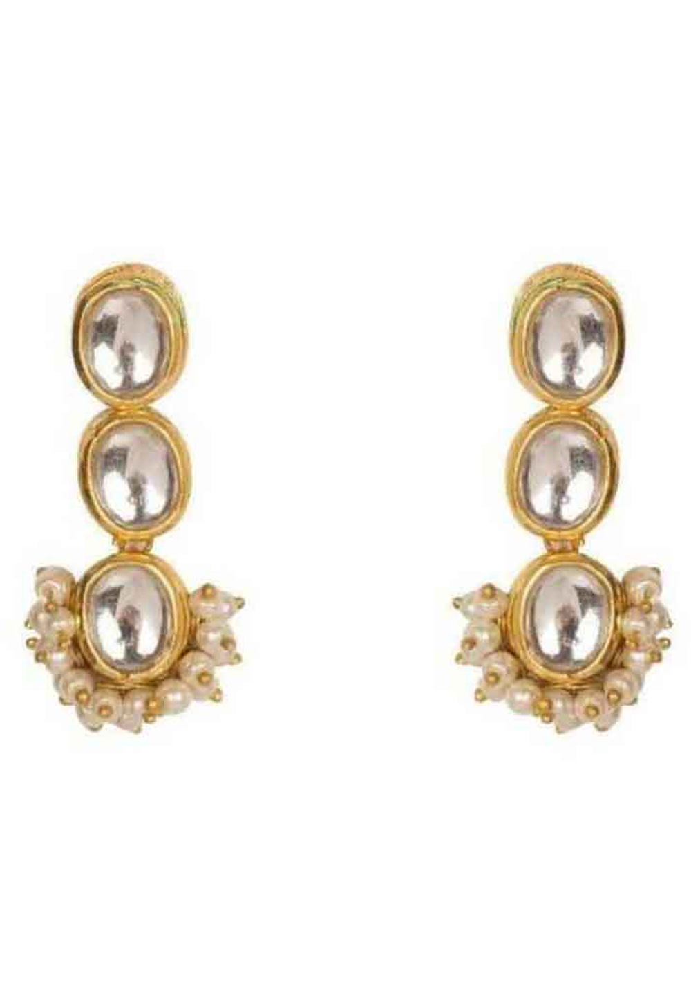 White Brass Earrings 184222