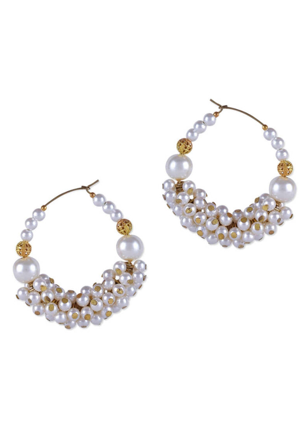 White Brass Earrings 187637