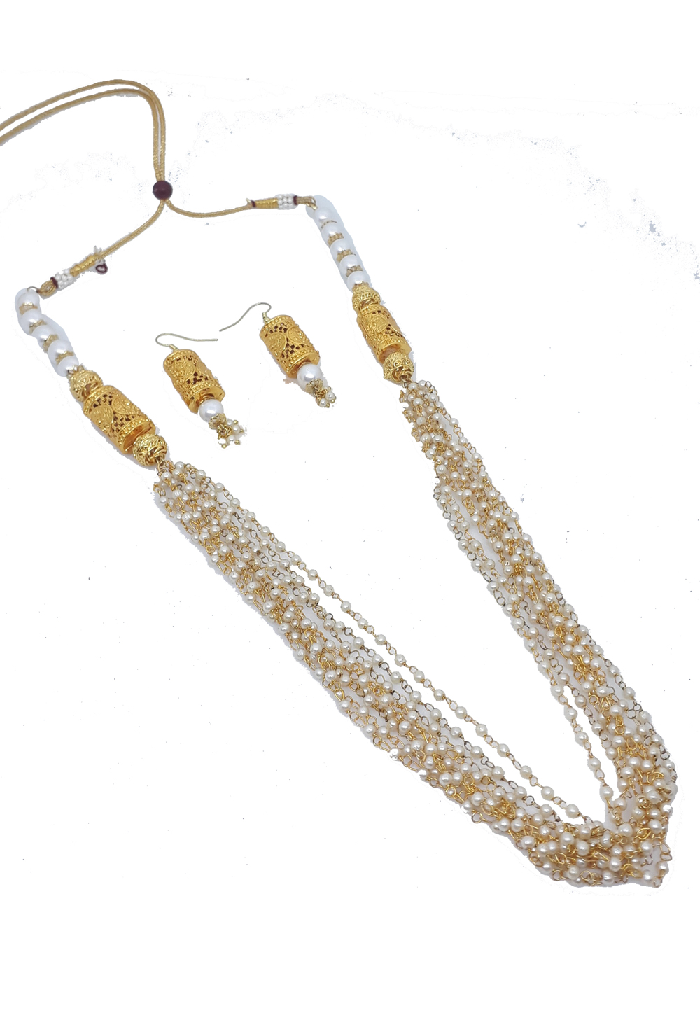 White Alloy Austrian Diamonds Necklace With Earrings 187659