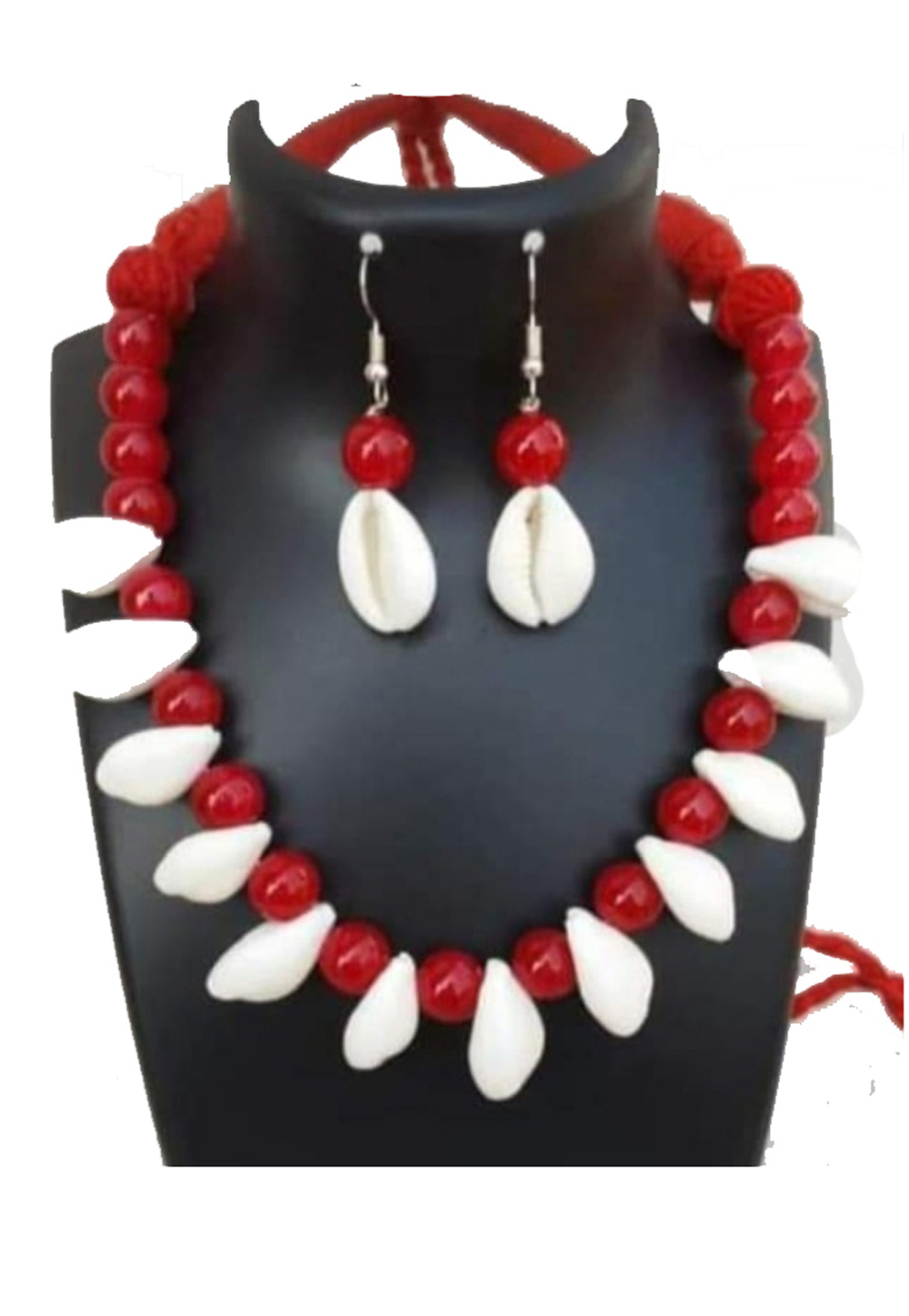 Red Alloy Austrian Diamonds Necklace With Earrings 187678