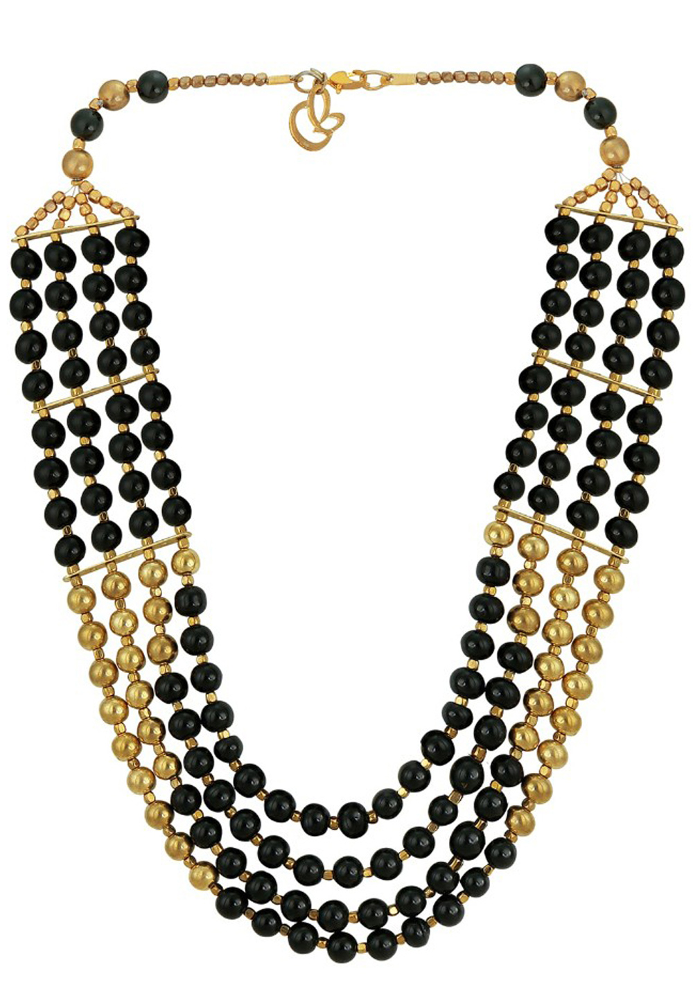 Black Alloy Austrian Diamond Necklace Set Earrings 191675
