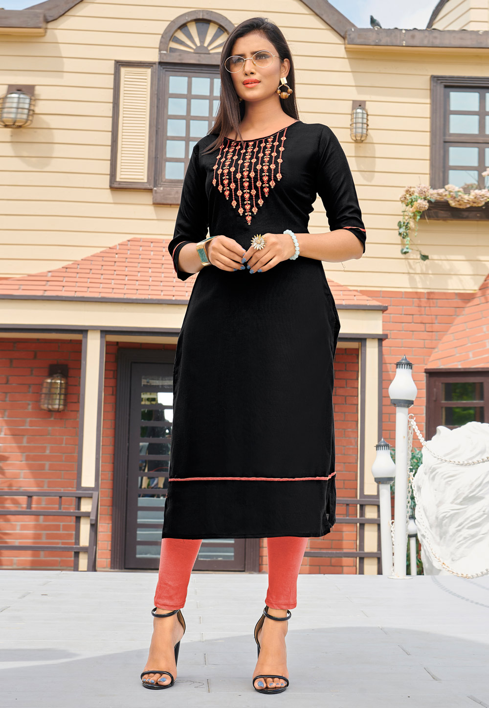 Black Silk Readymade Tunic 211141