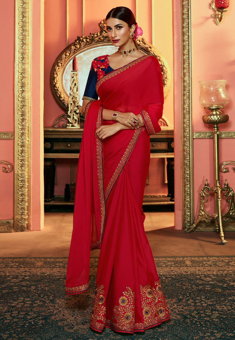 Magenta Silk Party Wear Saree 192921