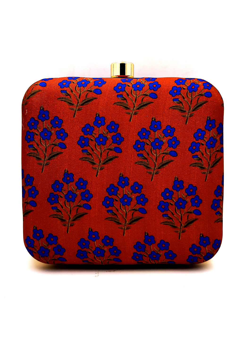Red Synthetic Printed Clutch 225674