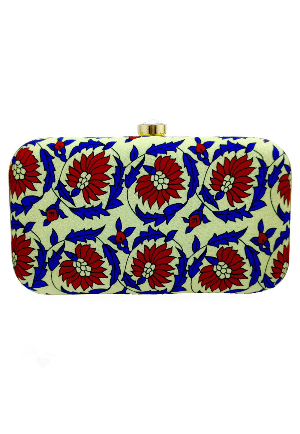 Pista Green Synthetic Embroidered Clutch 225790
