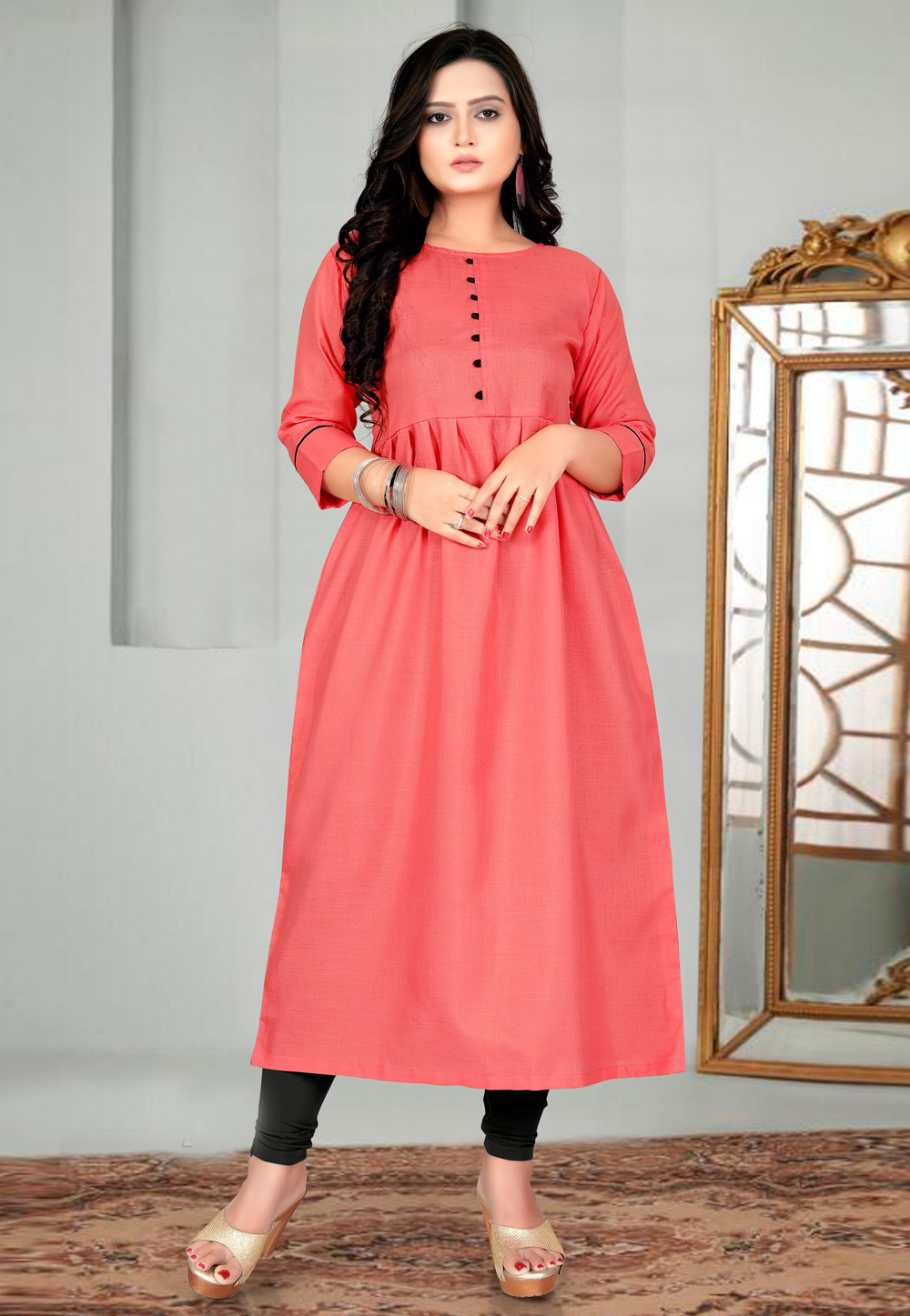 Red Cotton Tunic 226148