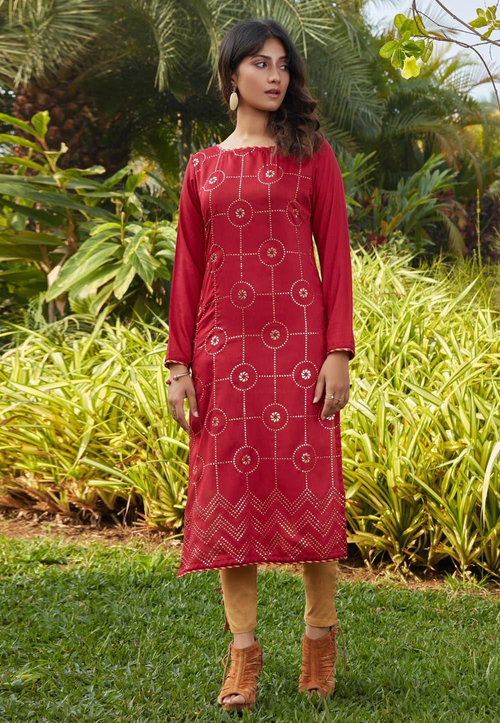 Red Cotton Tunic 219248