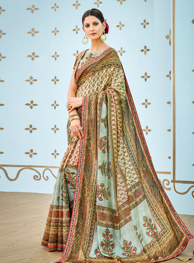 Light Green Banarasi Silk Festival Wear Saree 144169