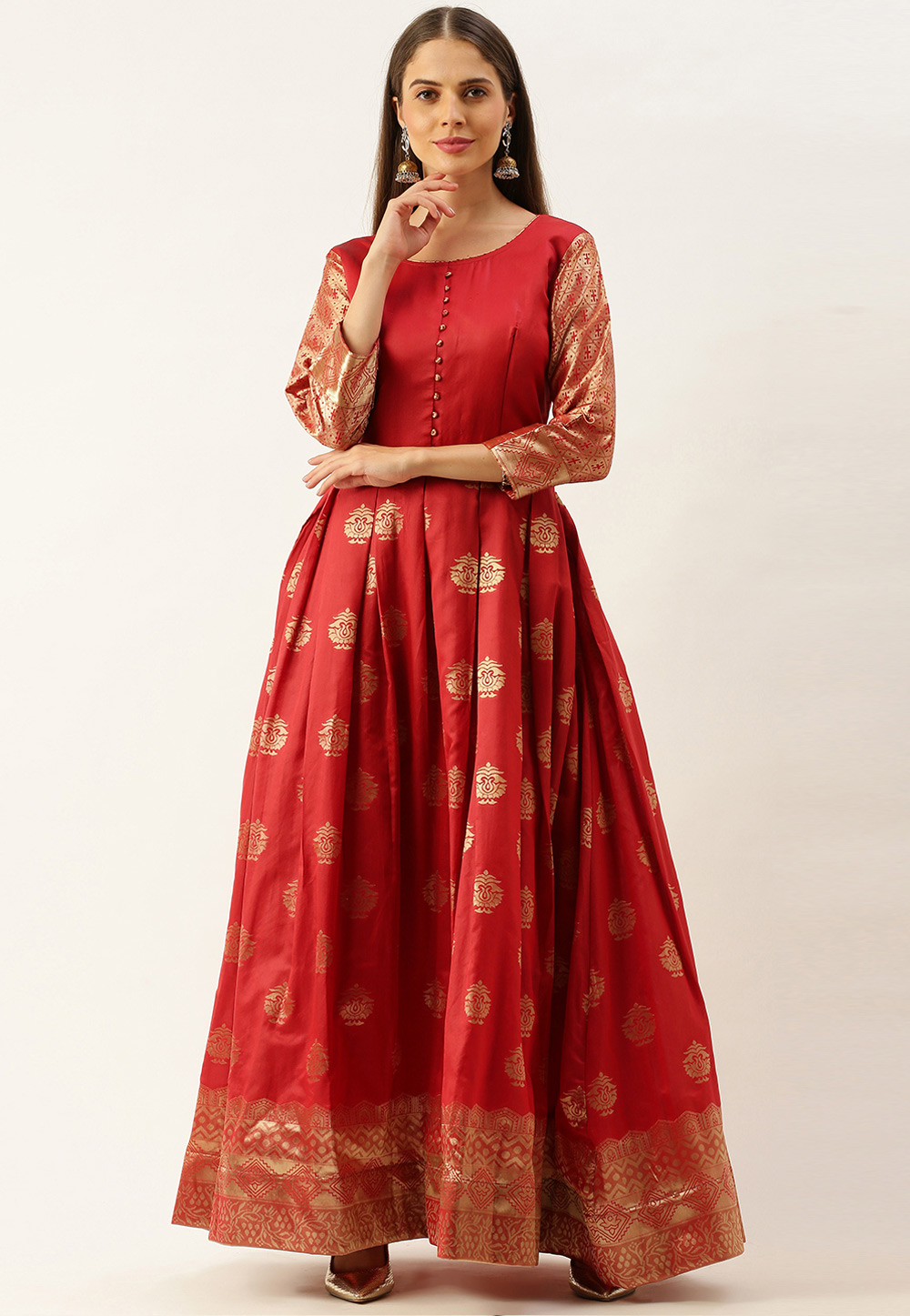Red Silk Gown 222880