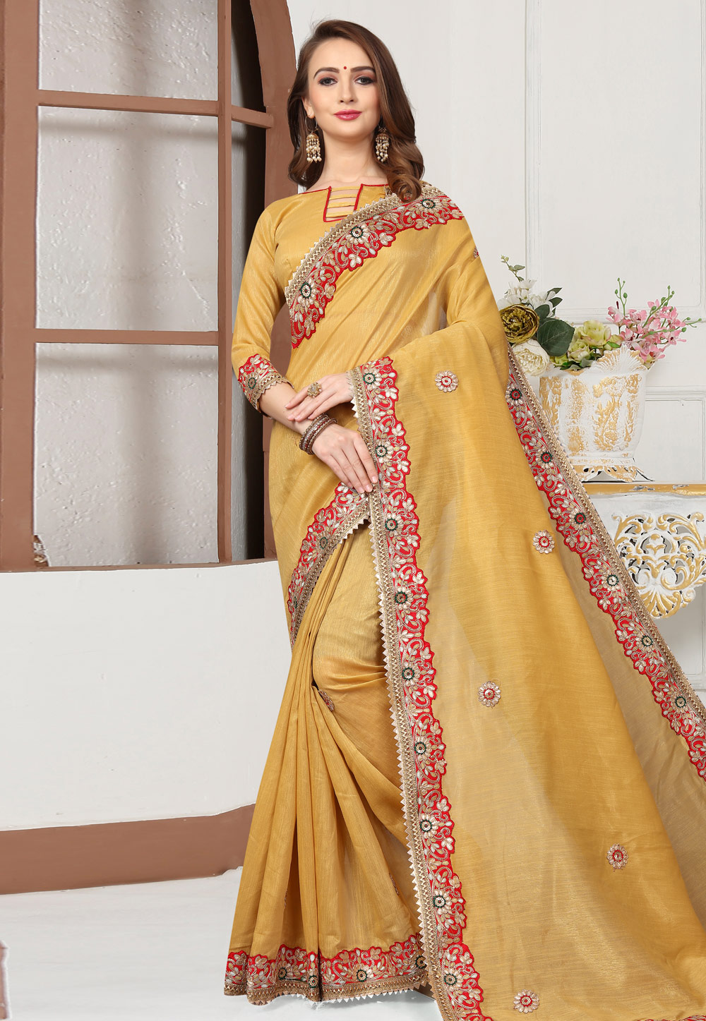 Yellow Cotton Festival Wear Saree 167250
