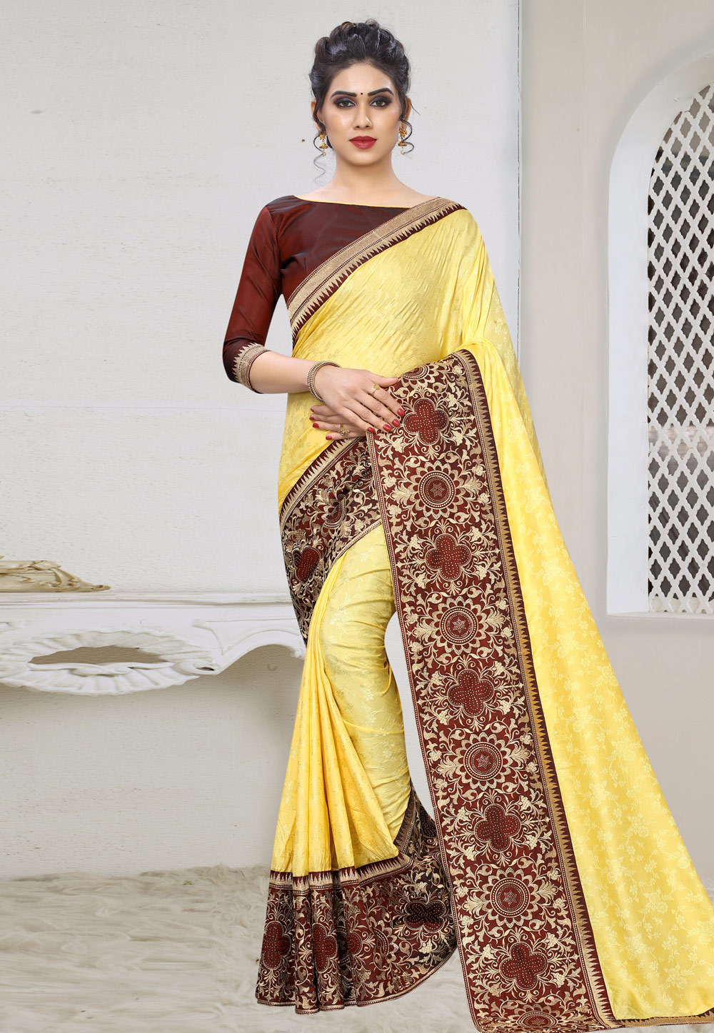 Yellow Silk Saree With Blouse 197900
