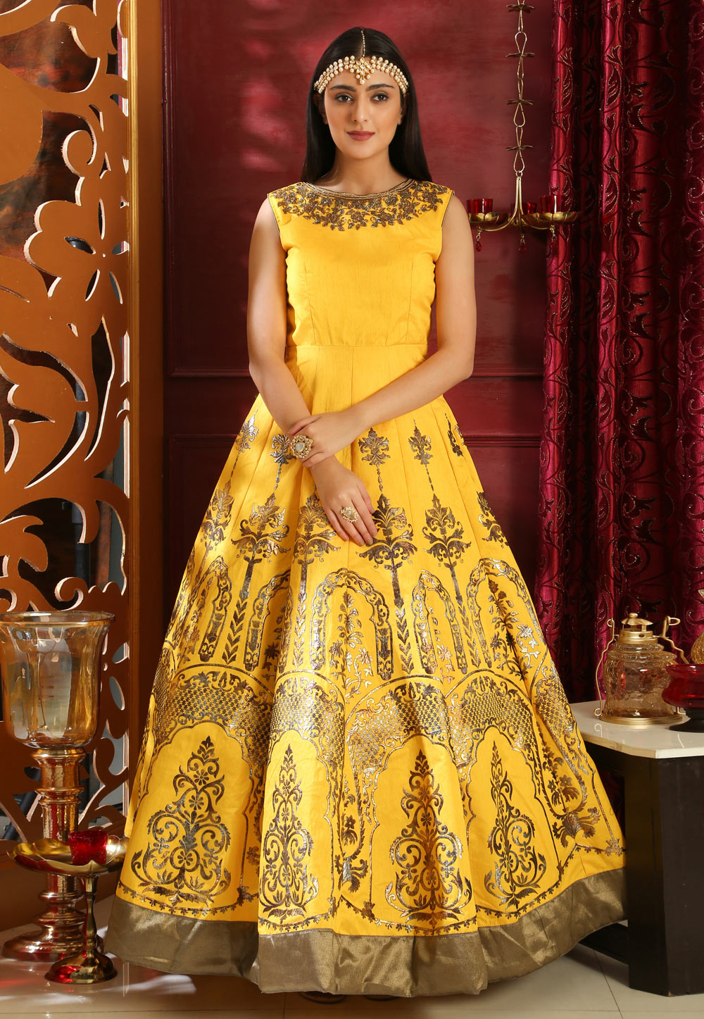 Yellow Silk Gown 168663