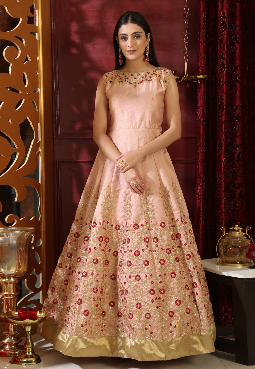 Peach Silk Gown 168664
