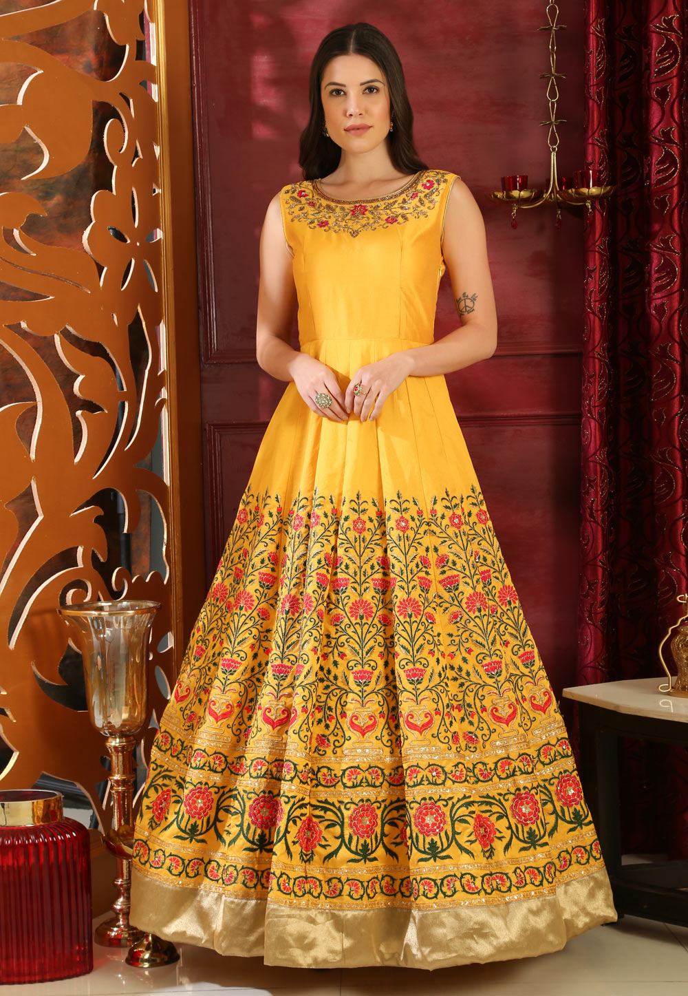 Yellow Silk Gown 168665
