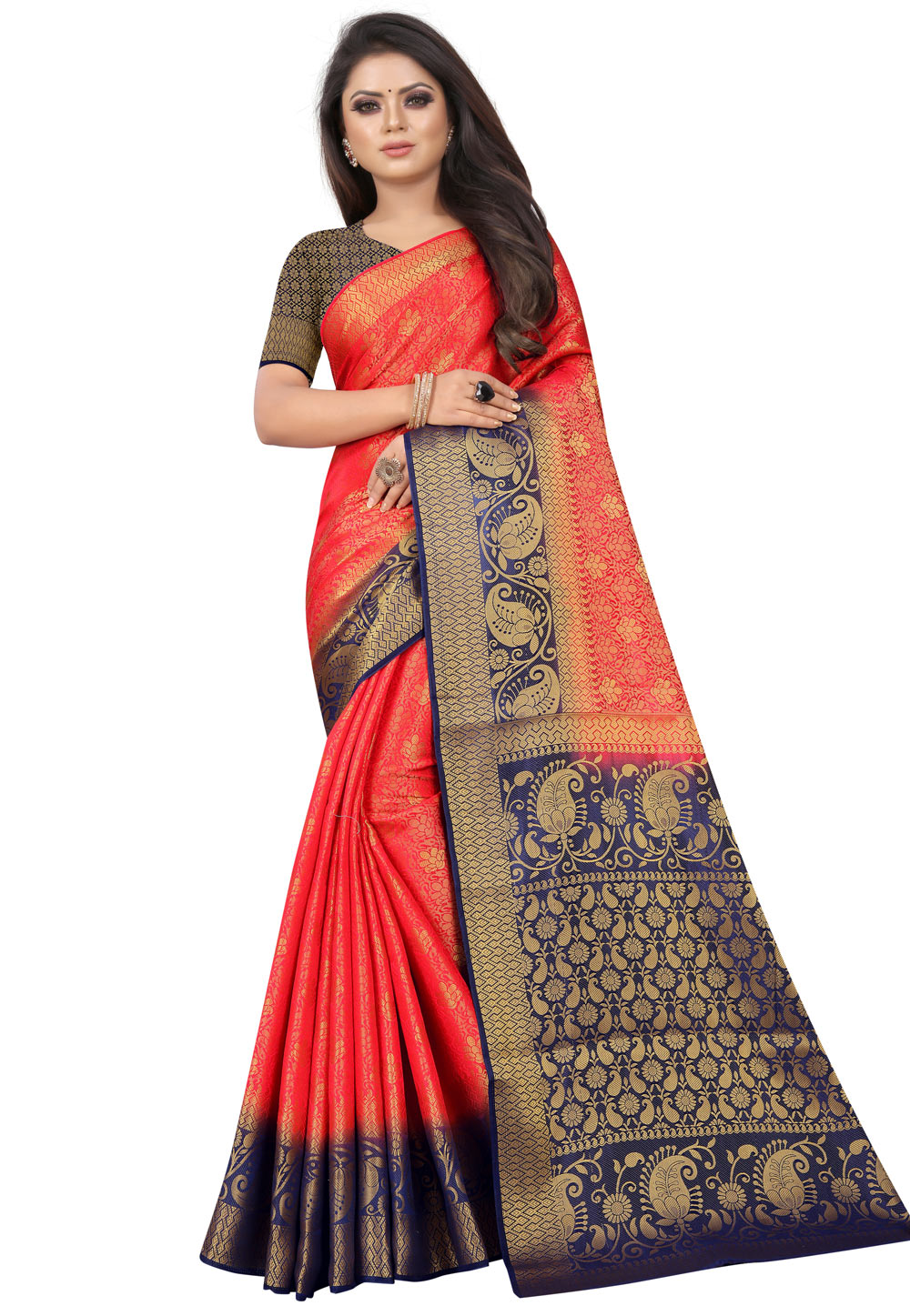 Red Silk Saree With Blouse 202510