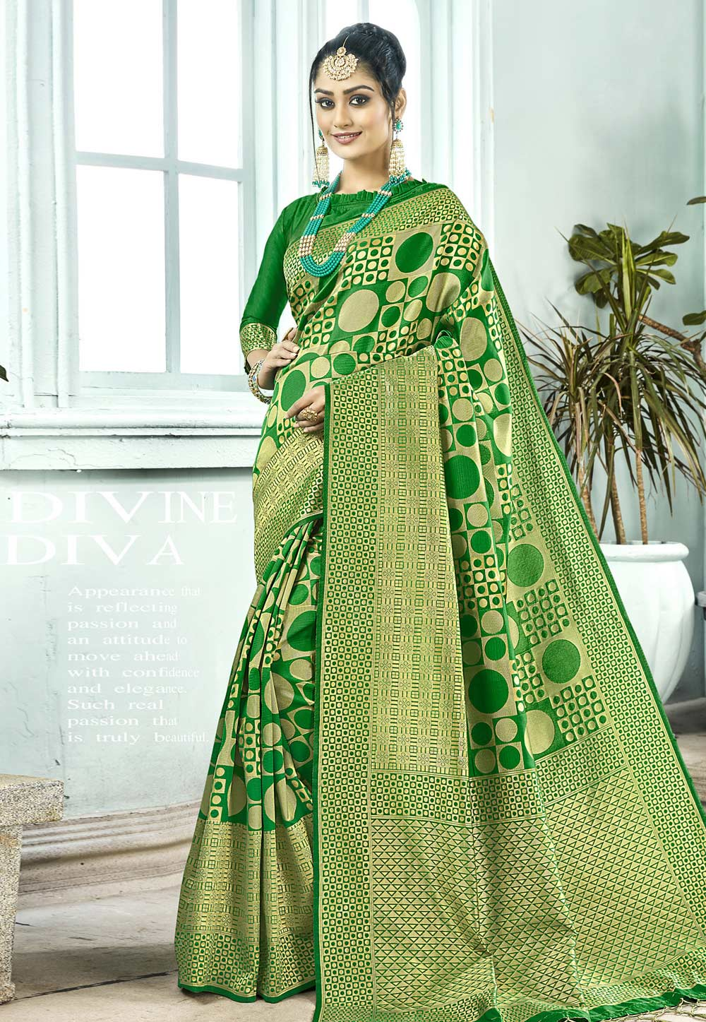 Green Art Silk Saree With Blouse 155850