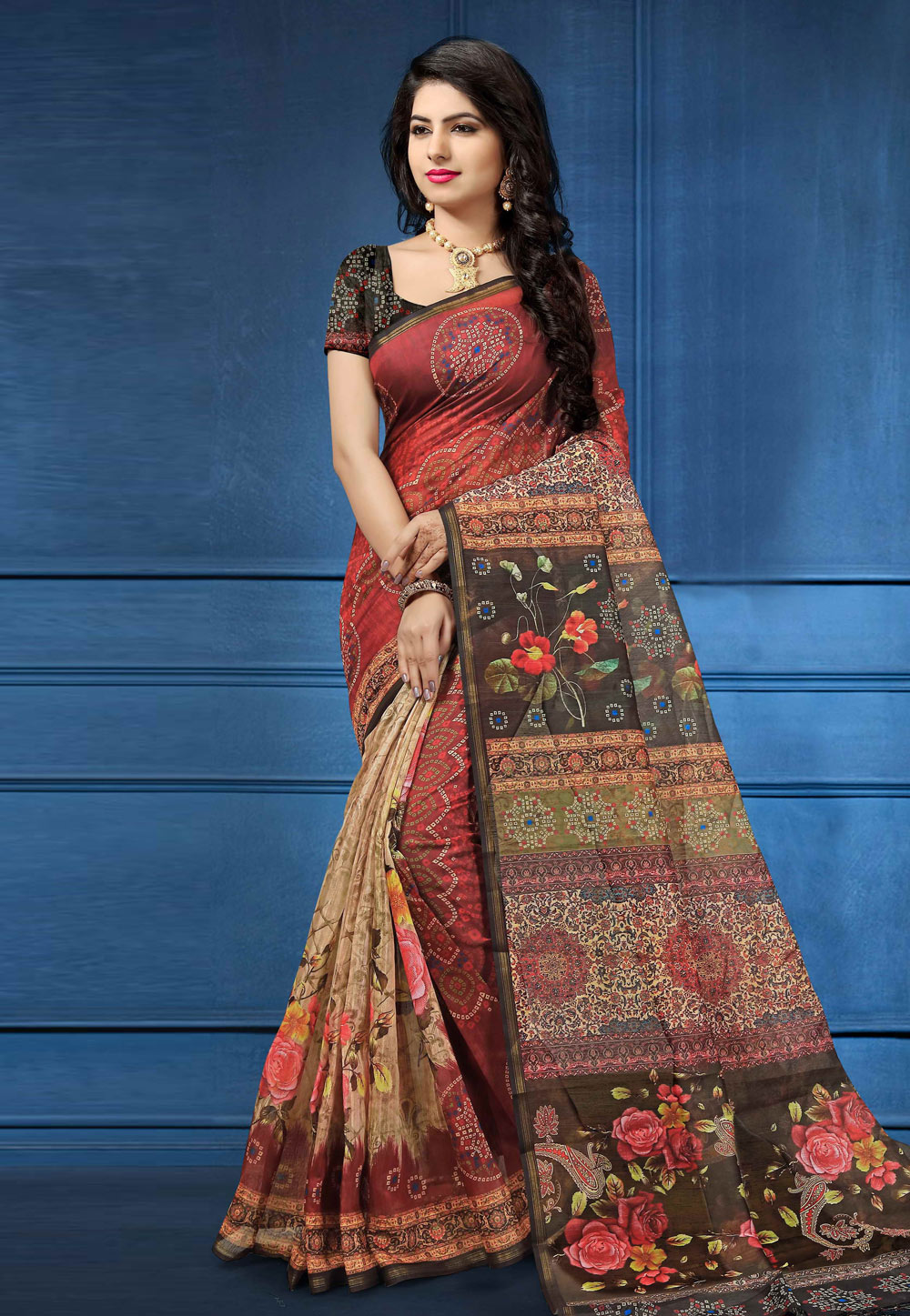 Red Silk Saree With Blouse 162596