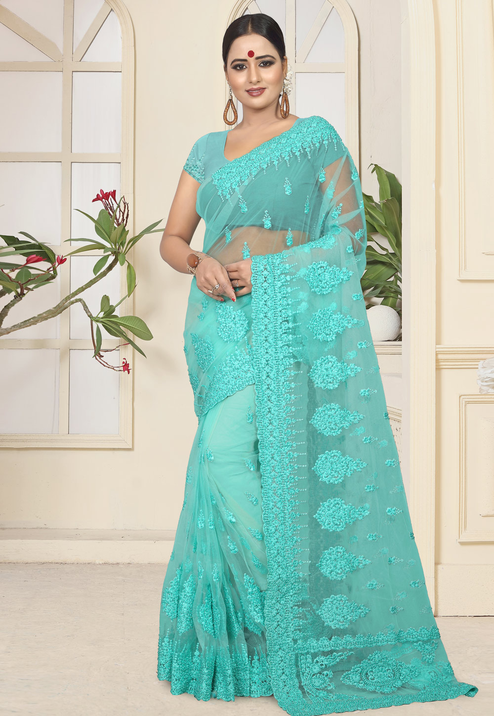 Aqua Net Festival Wear Saree 184376