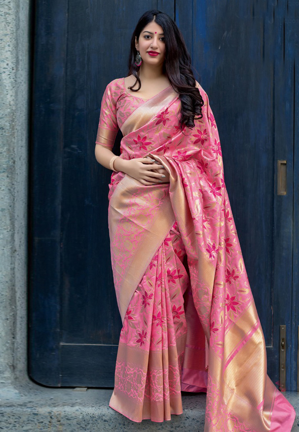 Pink Silk Festival Wear Saree 155607