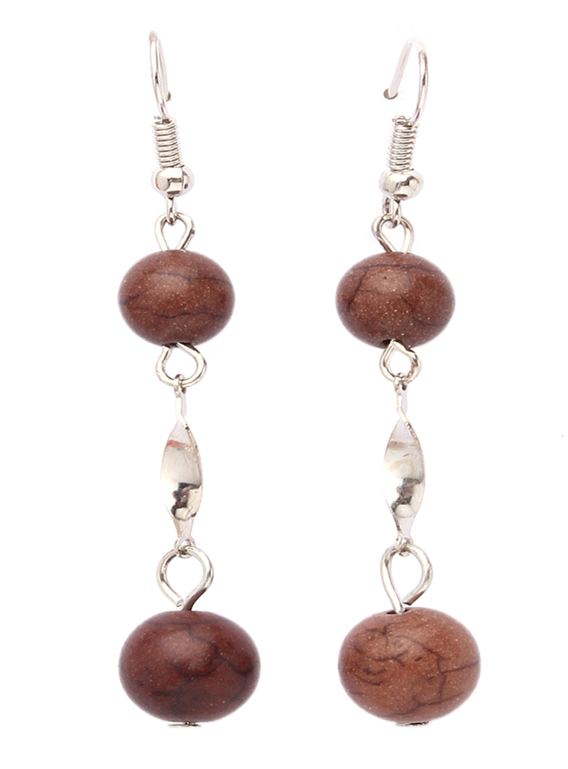 Brown Alloy Earrings 102448