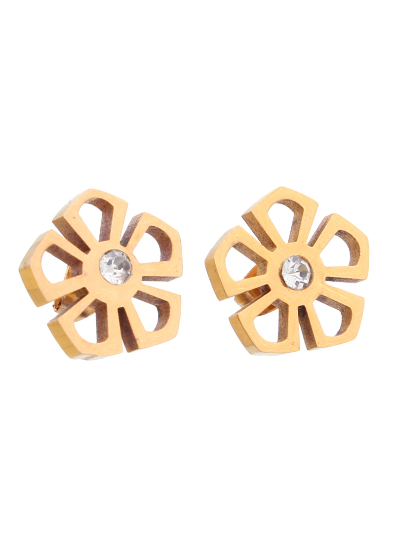 Golden Steel Austrian Diamonds Earrings 102457