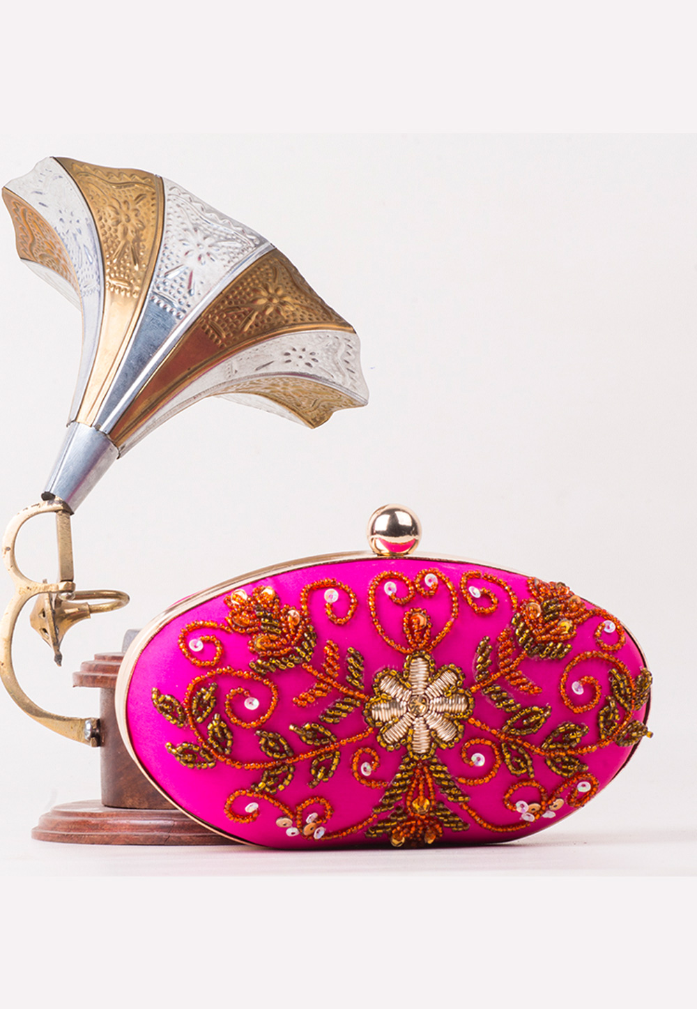 Magenta Synthetic Hand Work Clutch 172751