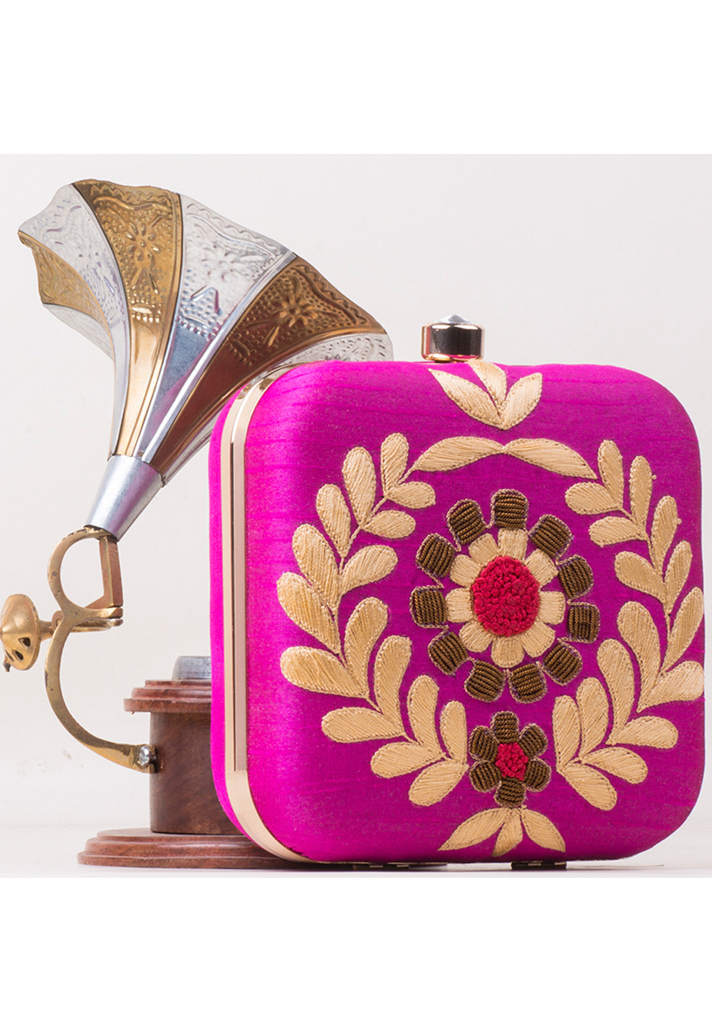 Magenta Synthetic Hand Work Clutch 172792