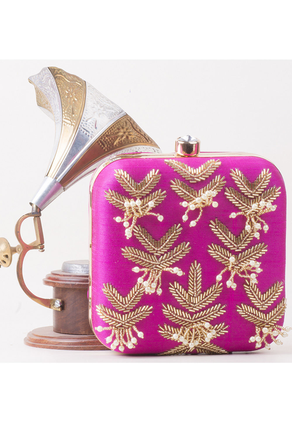 Magenta Synthetic Hand Work Clutch 172800