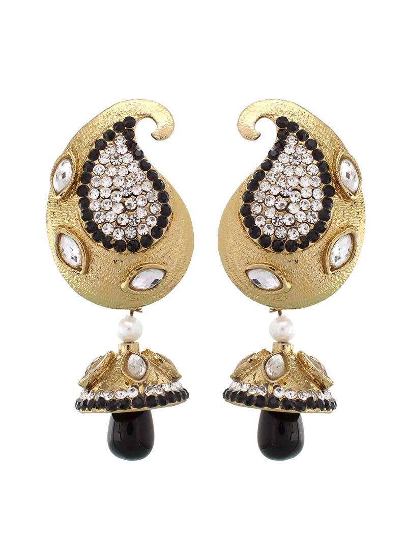 Black Dazzling Kairi Drop Earrings 42368