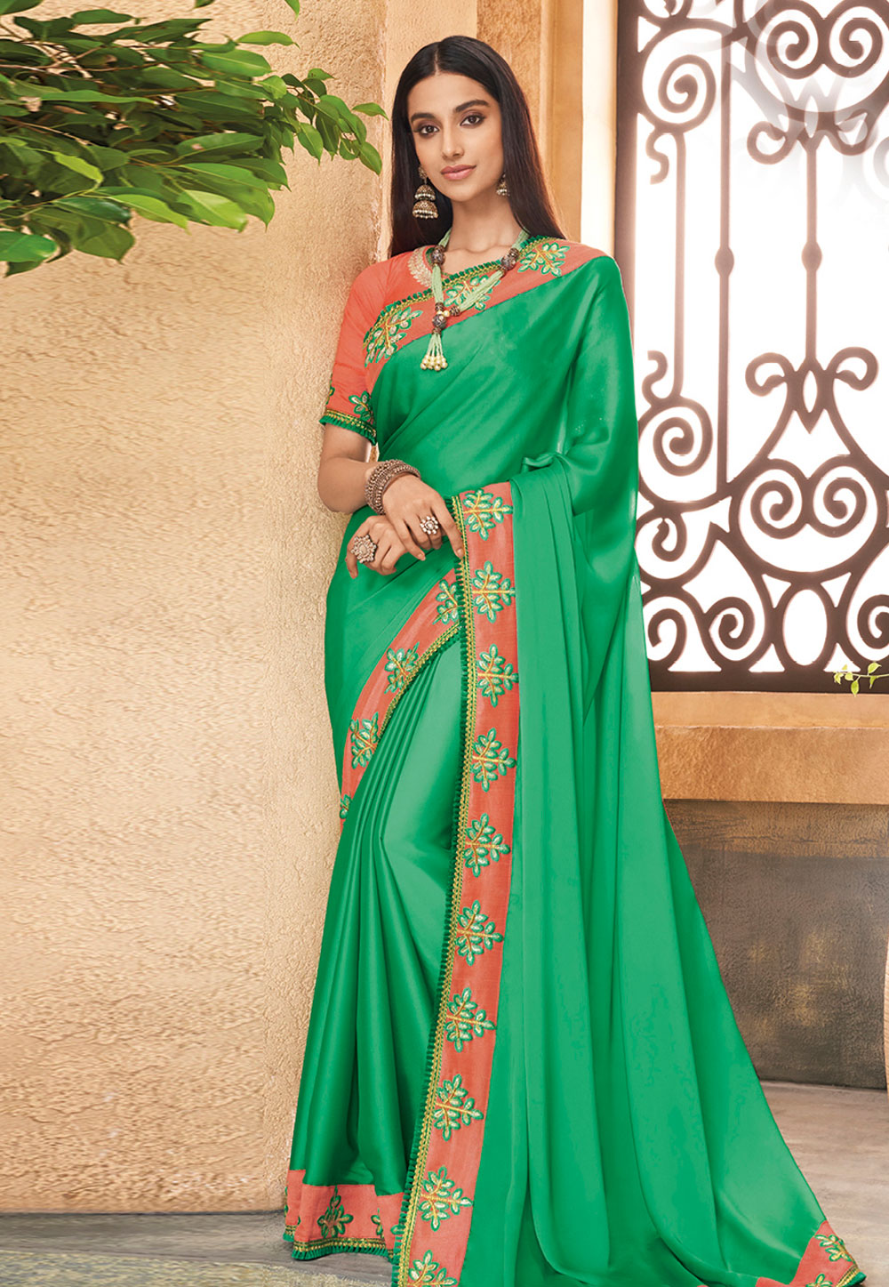 Green Silk Festival Wear Saree 191530