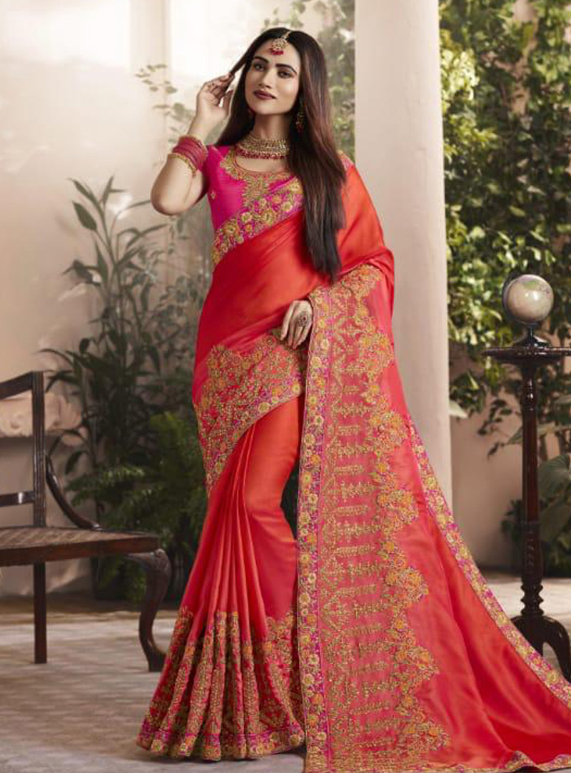 Red Silk Saree With Blouse 153338