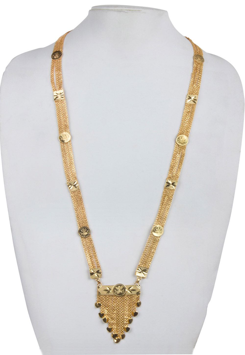 Golden Alloy Kundan Necklace 156246