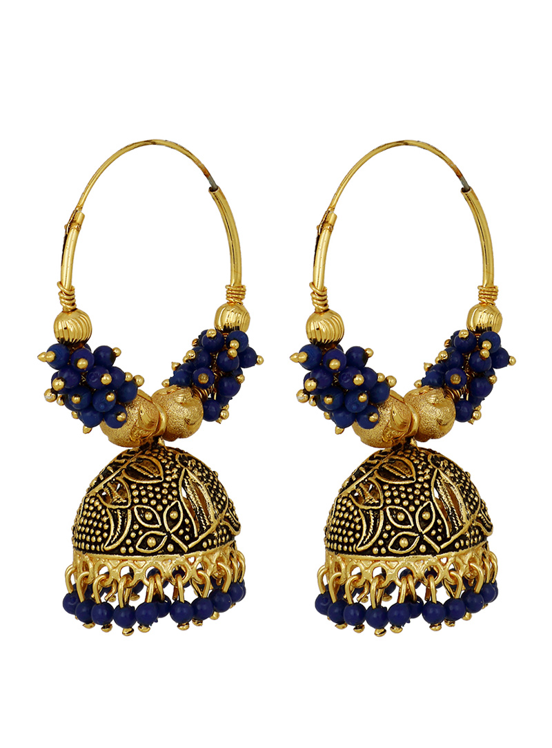 Blue Brass Earrings 150706