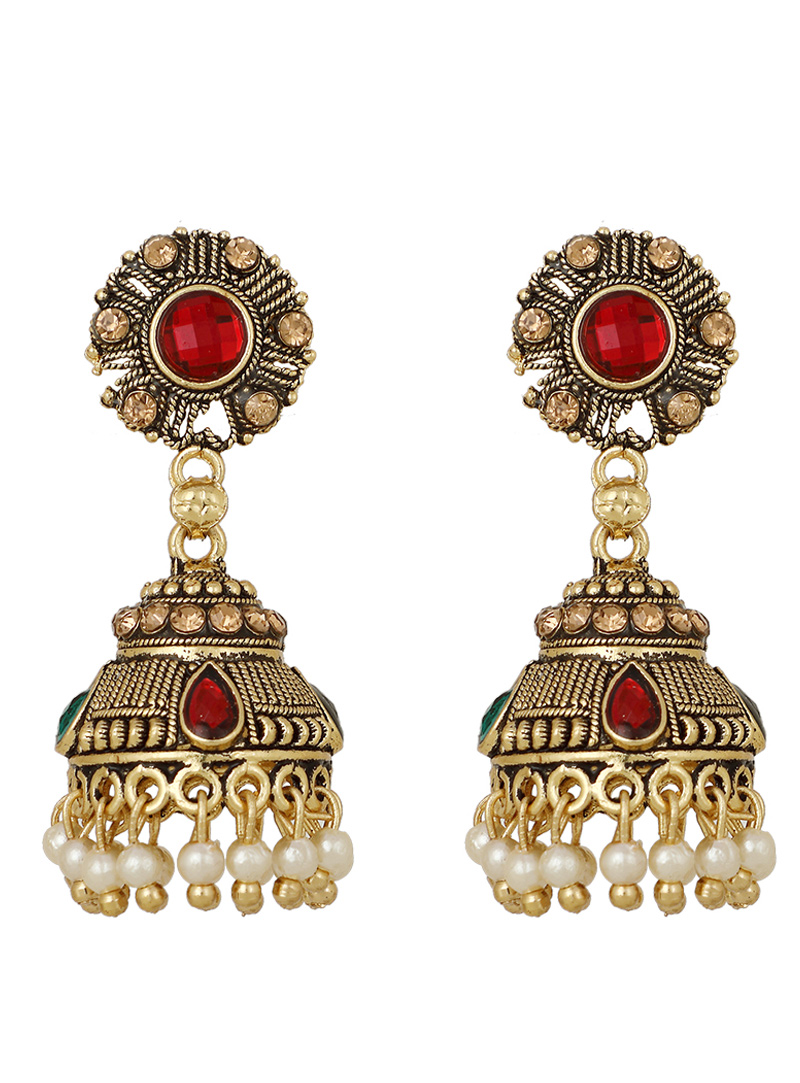 Golden Brass Earrings 150747