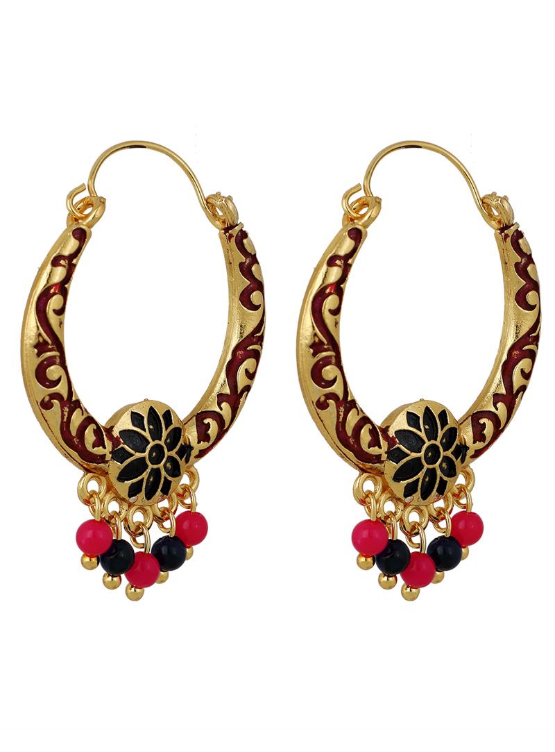 Golden Brass Earrings 150748